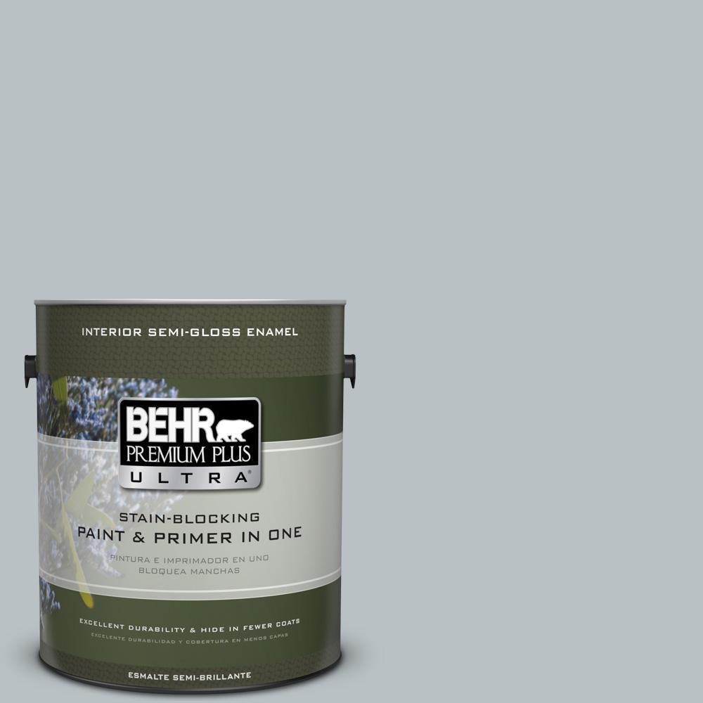 BEHR Premium Plus Ultra 1 gal. #MQ5-31 Distant Star Semi-Gloss Enamel Interior Paint and Primer in One