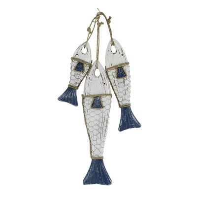 Altamont Coastal Hanging Fish Wood Figurine