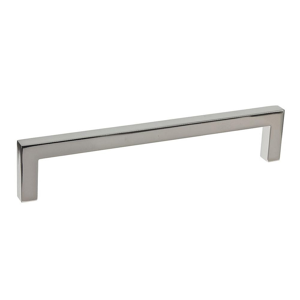 Contemporary 6-5/16 in. (160 mm) Polished Nickel Cabinet Pull
