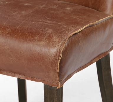 Lombard Leather Dining Chair, Sienna Chestnut