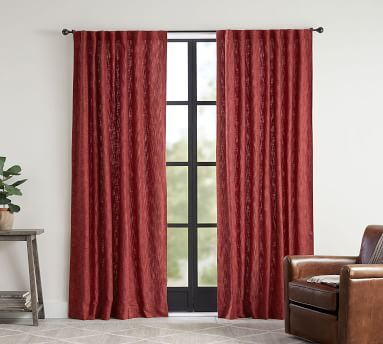 """Seaton Textured Blackout Curtain, 50 x 96"""", Charcoal"""