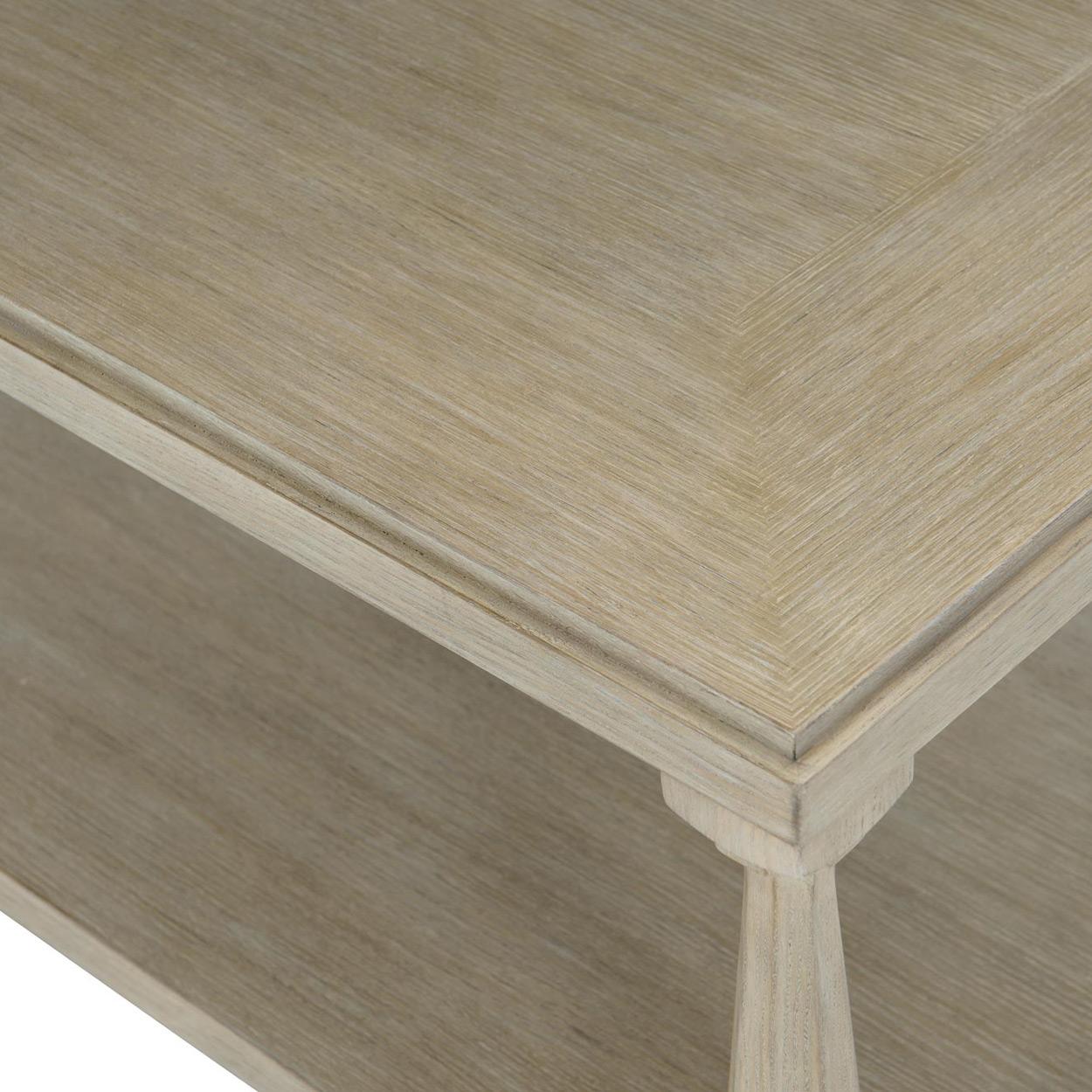Sarabeth Modern French Wood Rectangular Coffee Table