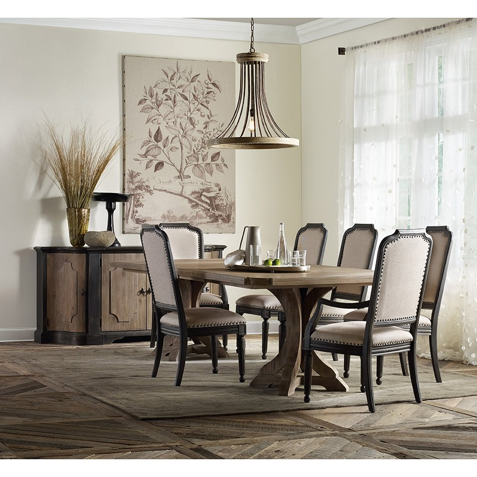 Vadim French Country Double Pedestal Dining Table