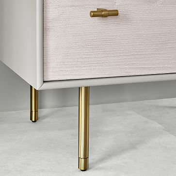Modernist Wood + Lacquer 5-Drawer Dresser, Winter Wood