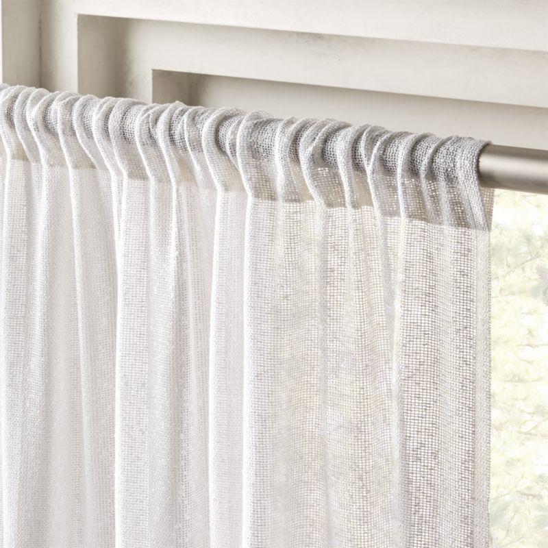 "White Net Curtain Panel 48""x108"""