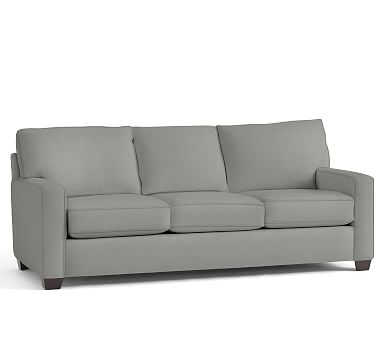 """Buchanan Square Arm Upholstered Grand Sofa 89.5"""", Polyester Wrapped Cushions, Performance Everydaysuede(TM) Metal Gray"""