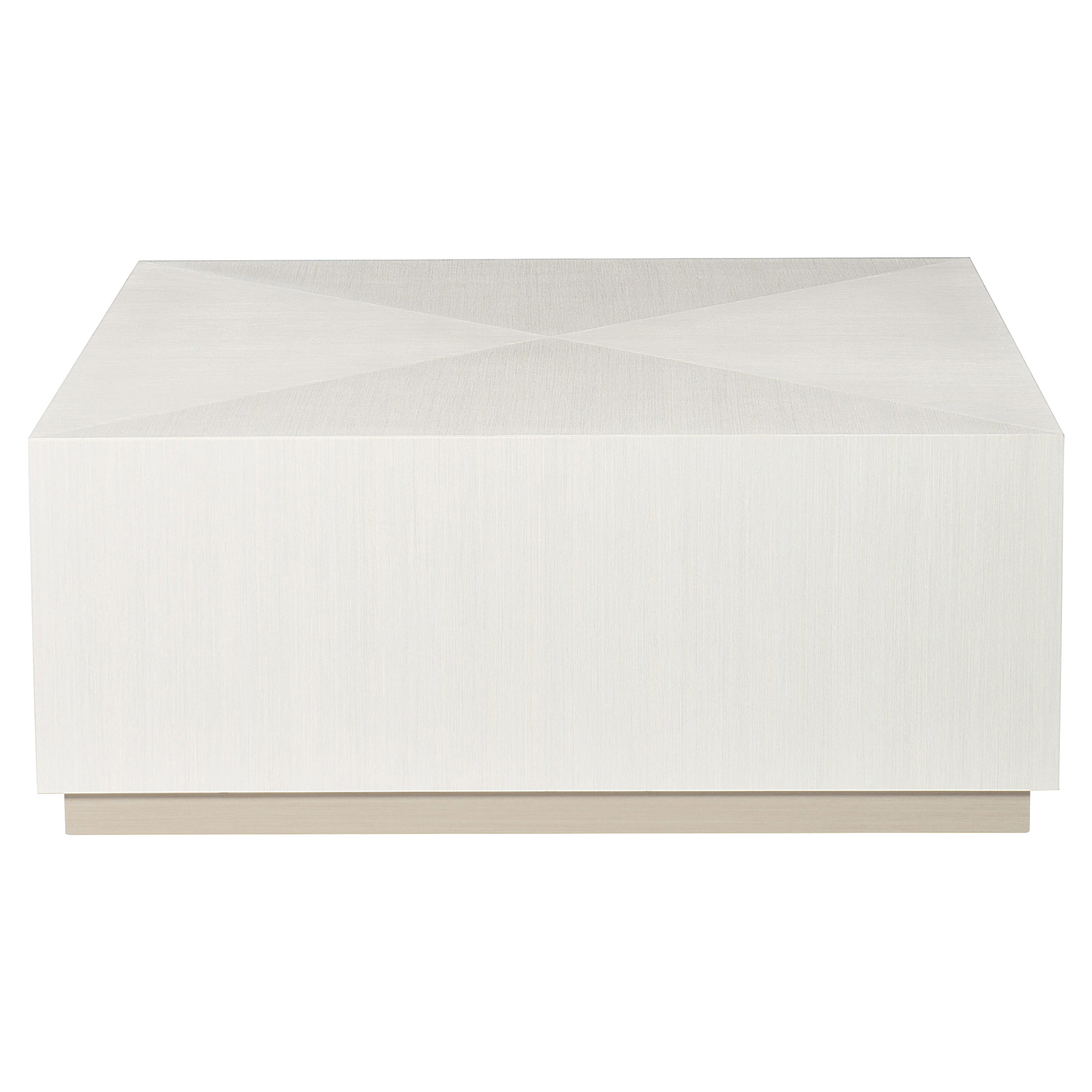 Lucille Modern Classic Square White Grey Wood Plinth Coffee Table