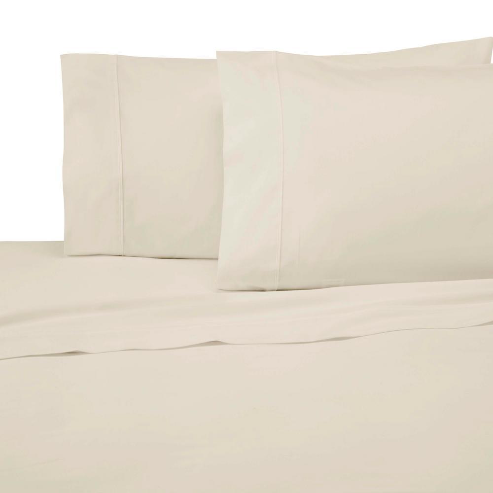 300 Thread Count 4-Piece Cream (Ivory) Cotton King Sheet Set