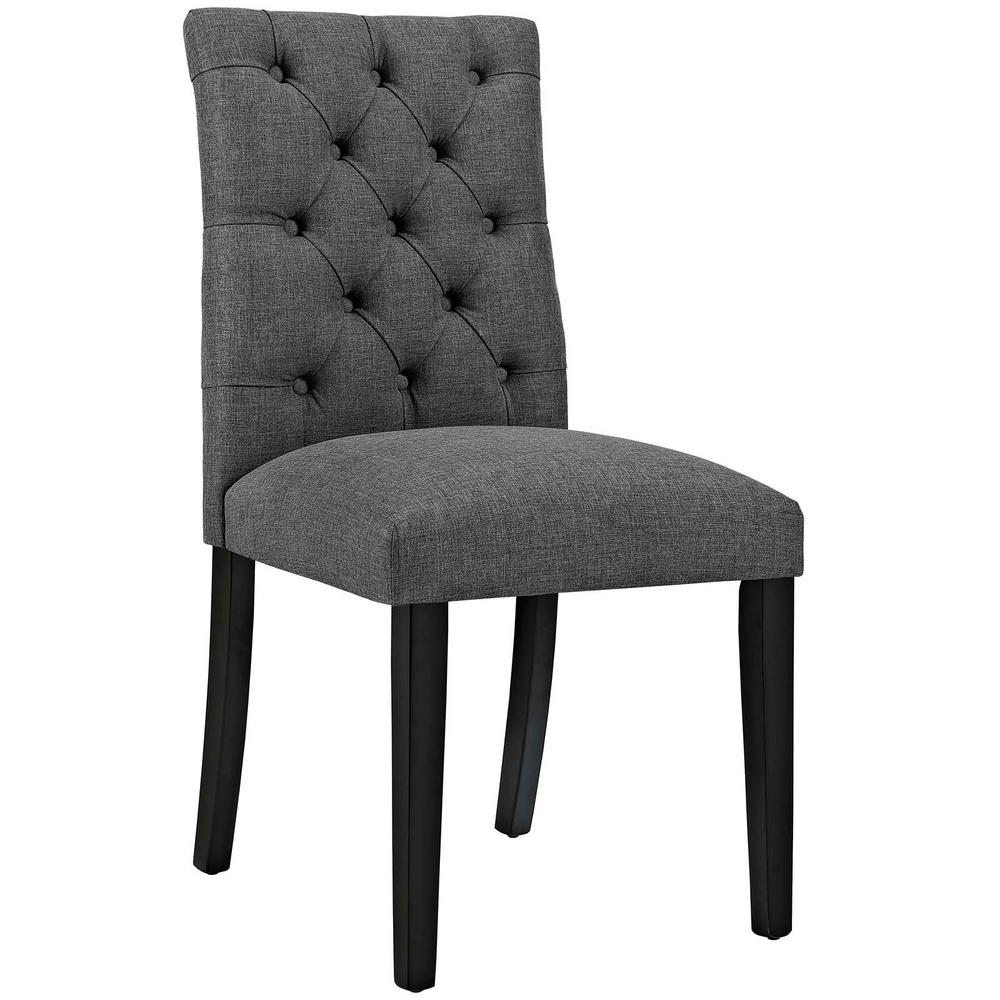 Duchess Gray Fabric Dining Chair