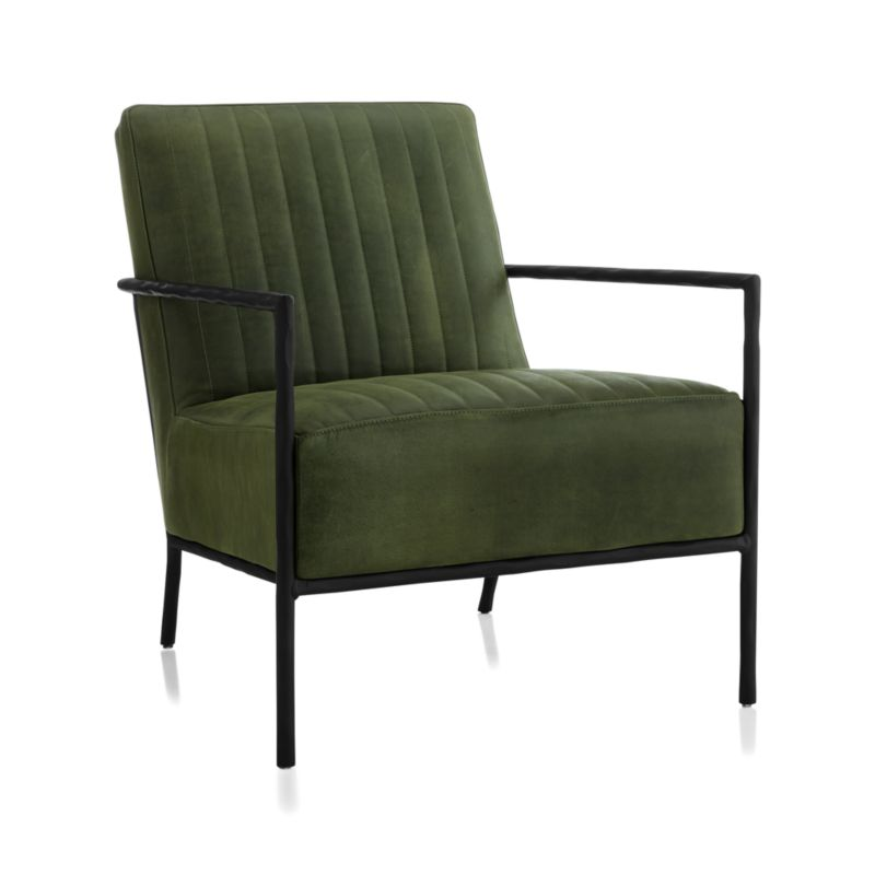 Pratt Leather Metal Frame Chair// Chester, Field