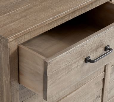 Paulsen Reclaimed Wood Extra Wide Dresser, Cinder Gray