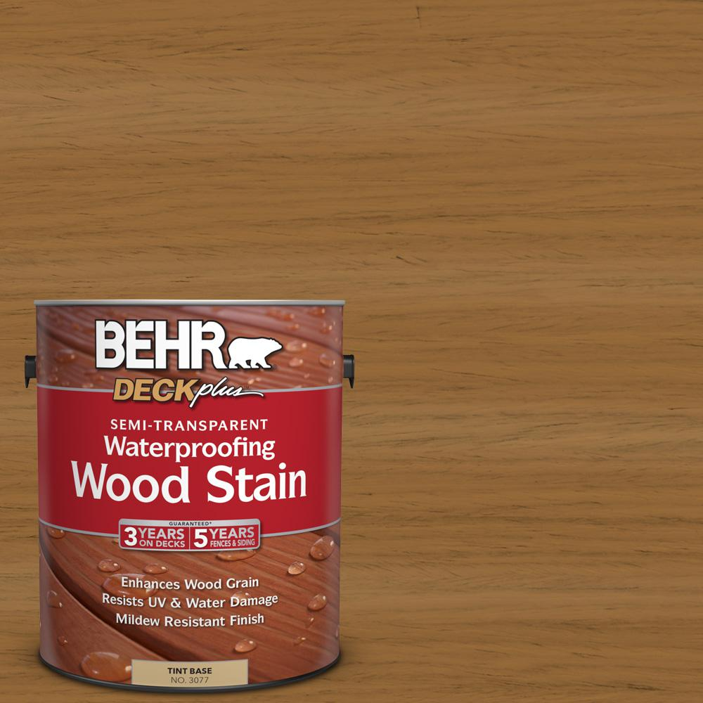 BEHR DECKplus 1 gal. #ST-146 Cedar Semi-Transparent Waterproofing Exterior Wood Stain