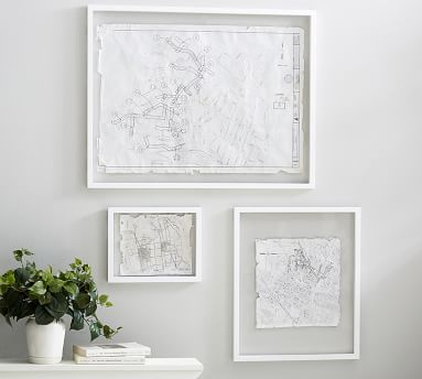 Floating Wood Gallery Frame, White - 20 x 24''