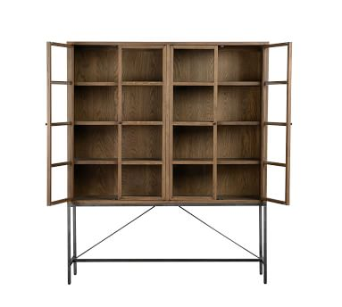 Inglewood Small Display Cabinet, Warm Taupe