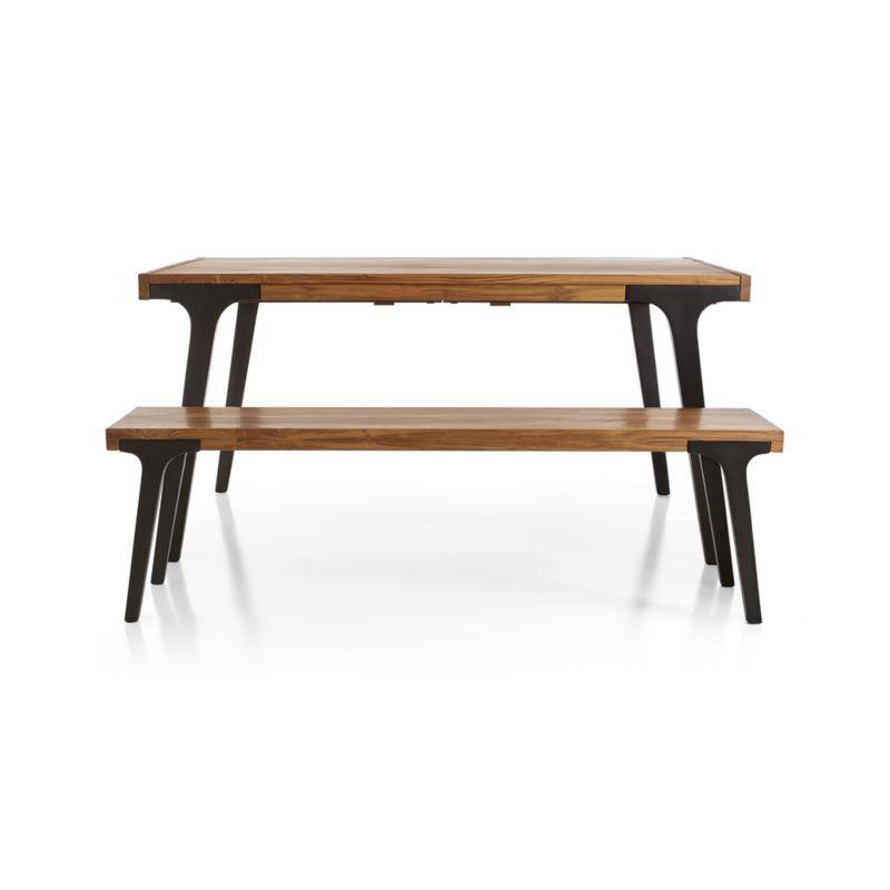 """Lakin 59"""" Recycled Teak Bench"""