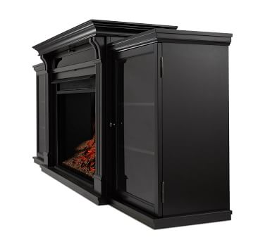 Real Flame(R) Tracey Grand Electric Fireplace Media Cabinet, Black
