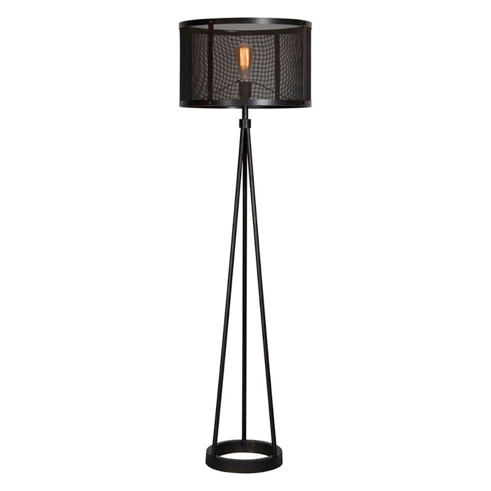 Renwil Livingstone 60 in. Black Floor Lamp