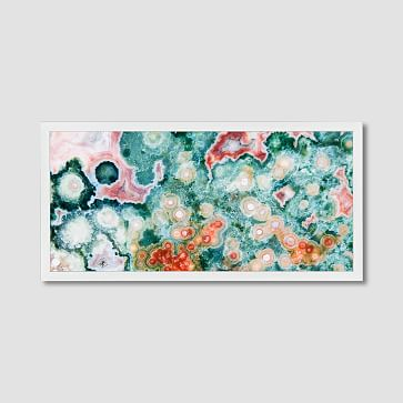 """Framed Print, Multi Geode, 24"""" x 48"""""""