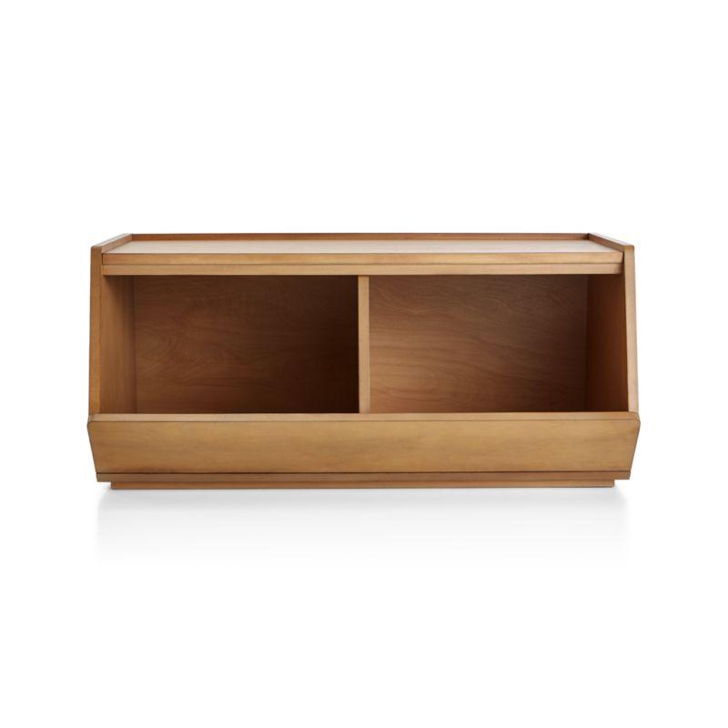 Storagepalooza II Wide Wood Toy Bin