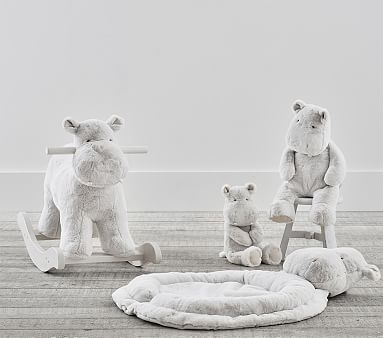 Grey Hippo Jumbo Nursery Plush