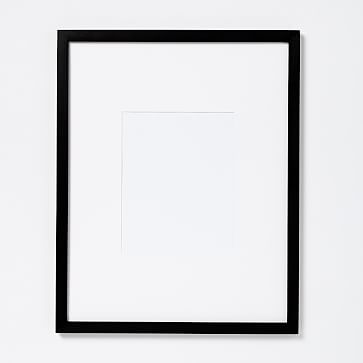 """Gallery Frames, Black Lacquer, 8""""x10"""" (15""""x19"""" Frame) -Individual"""