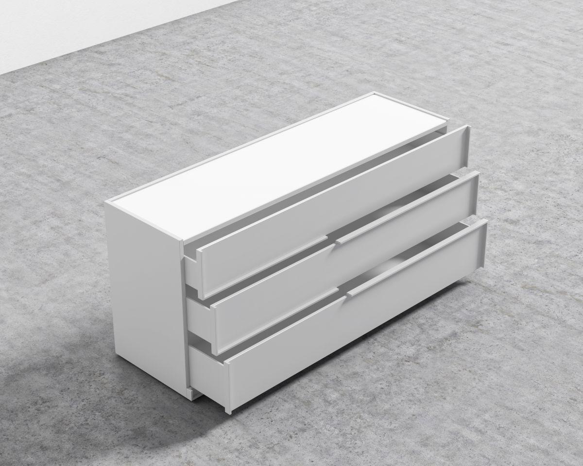 Hunter Wide Dresser - Glossy White Lacquer