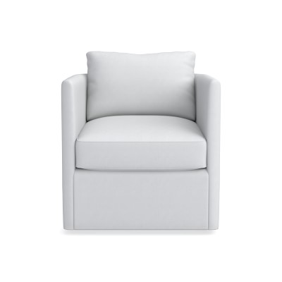 Naples Swivel Chair, Chunky Linen, Natural