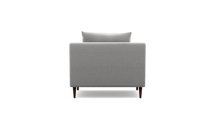 Sloan Accent Chair with Grey Ash Fabric and Oiled Walnut legs