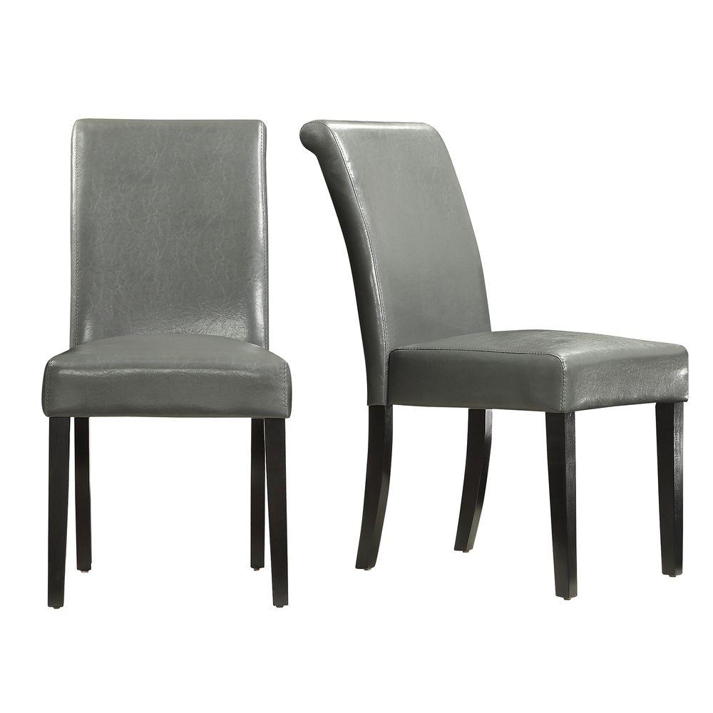 Fairfield Stone (Grey) Faux Leather Dining Chair (Set of 2)