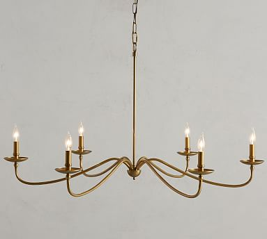 Lucca Chandelier, Gold