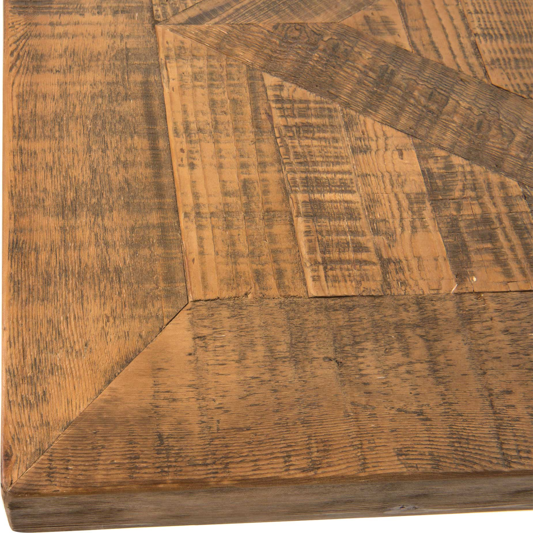 Ellicott Rustic Lodge Bleached Pine Trestle Dining Table