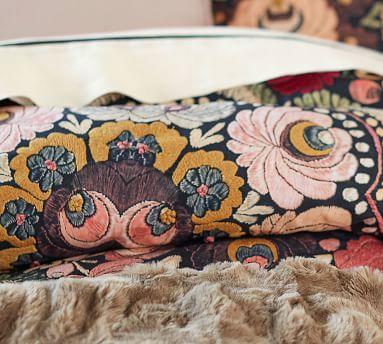 Helena Printed Duvet Cover, Full/Queen, Black