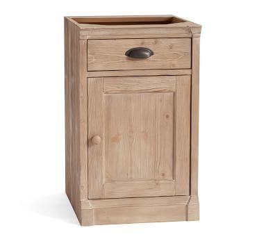 Lucca Single Door Cabinet, Salvaged Pine