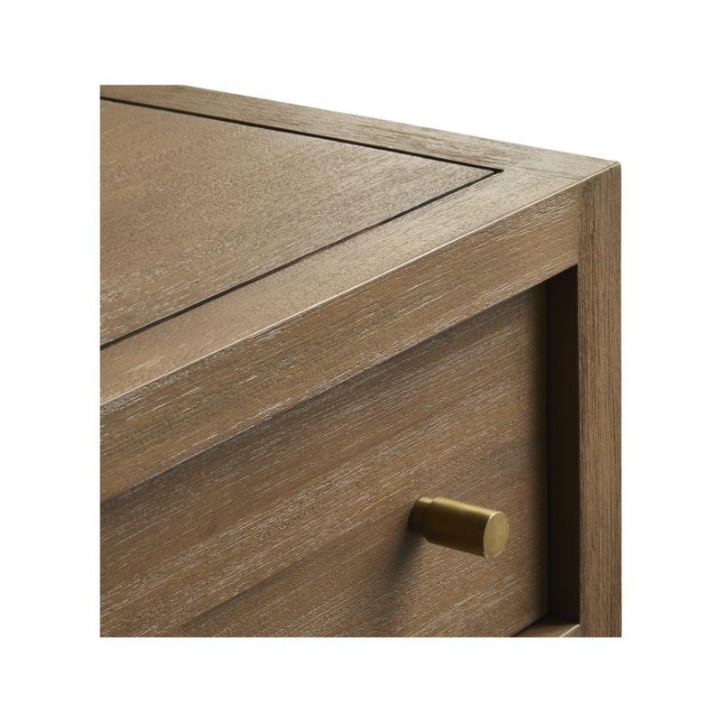 Keane Driftwood 6-Drawer Solid Wood Dresser