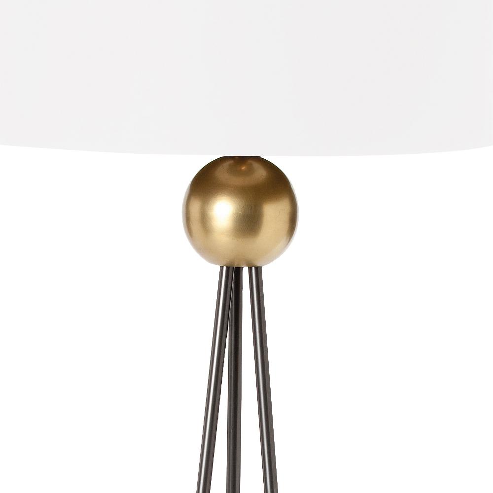 Tracie Modern Classic Antique Brass Ball Iron Floor Lamp