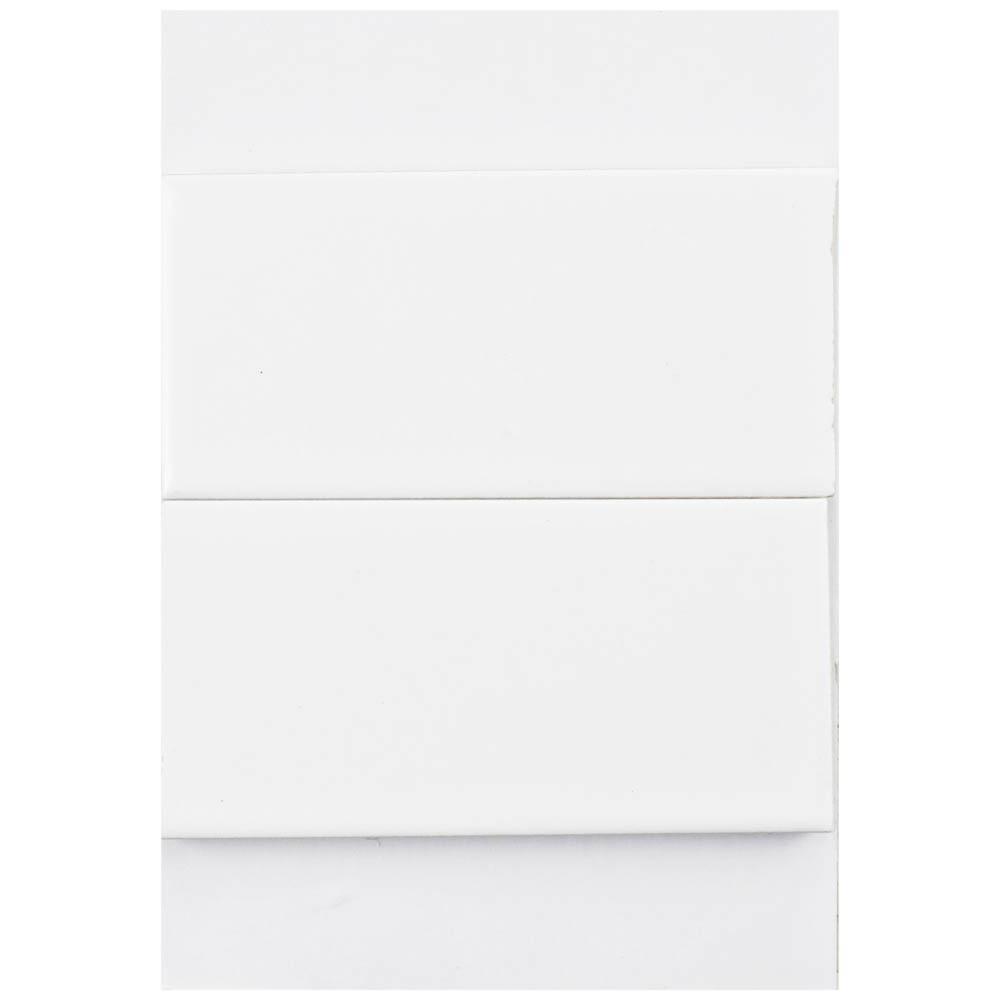 Merola Tile Metro Soho Subway Matte White Porcelain Floor And Wall 3 In X 4 Sample Low Sheen Home Depot