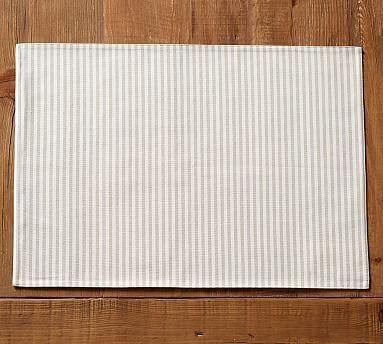 Wheaton Stripe Placemat, Set of 4 - Flax
