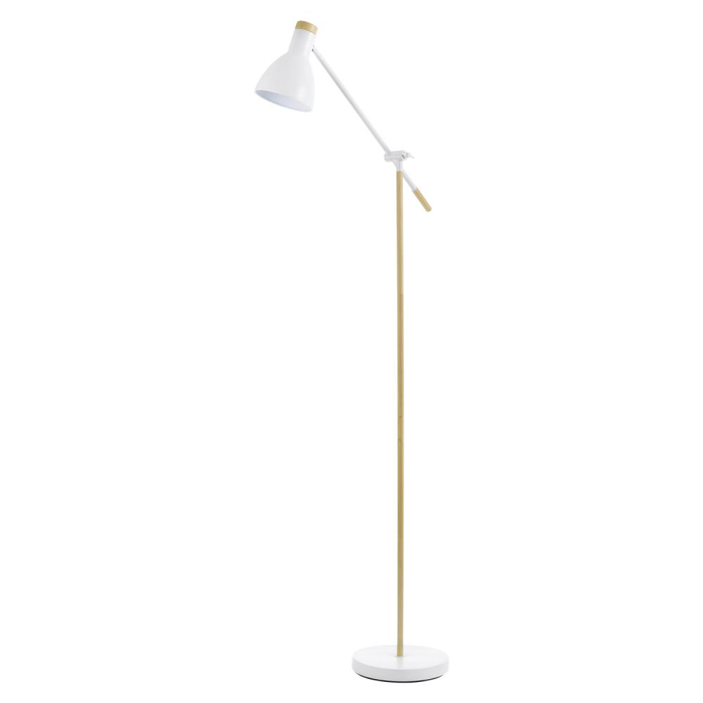 Novogratz 70 in. Indoor Matte White Floor Lamp With On/Off Foot Switch
