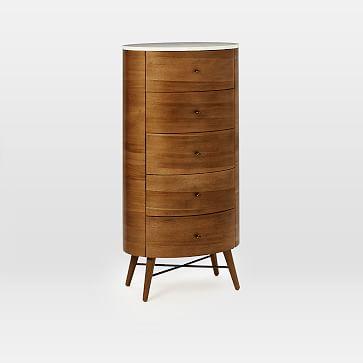 Penelope 5-Drawer Dresser, Acorn/Marble