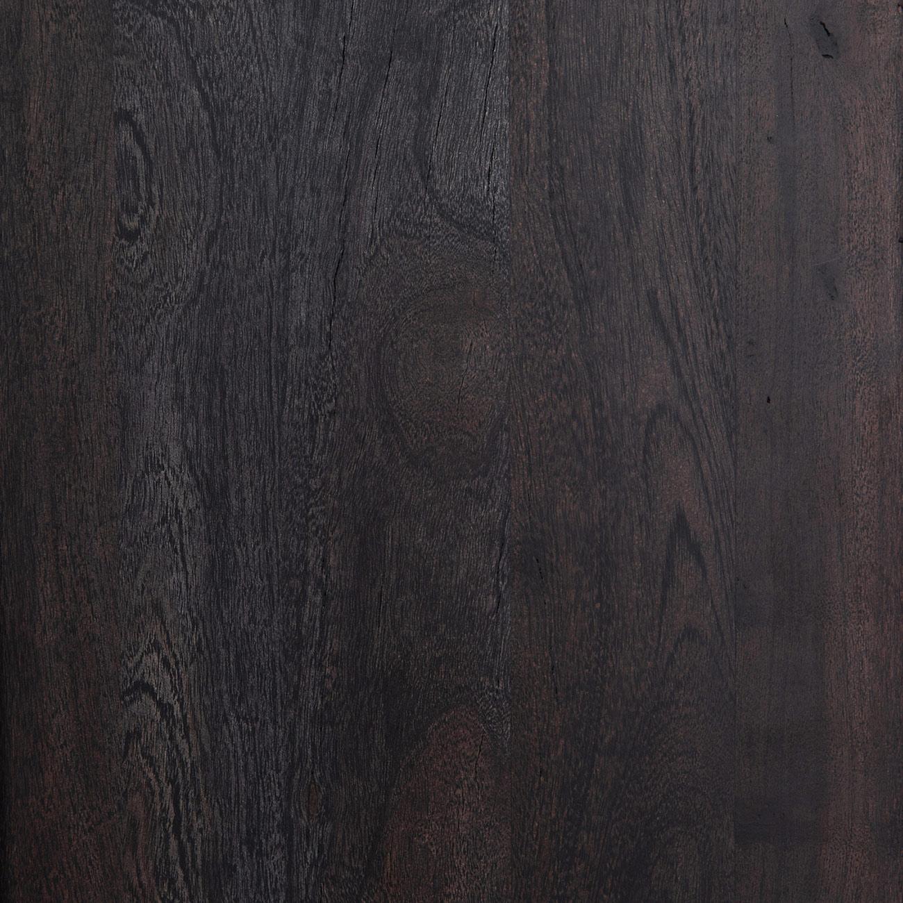 Corazon Global Bazaar Woven Natural Cane Doors Black Wash Acacia Bookcase