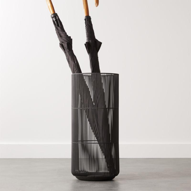 Drizzle Black Umbrella Stand