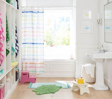 Rainbow Stripe Shower Curtain
