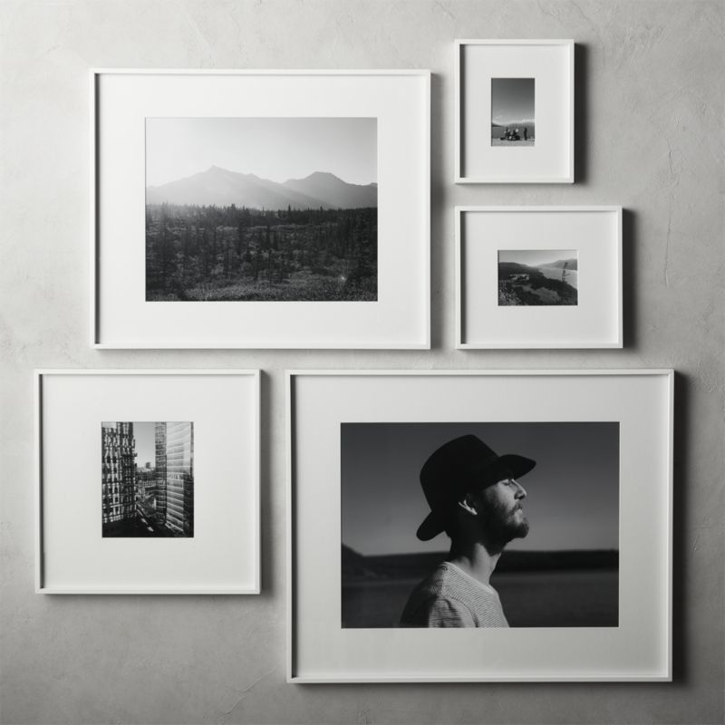 Gallery White Frame with White Mat 18x24