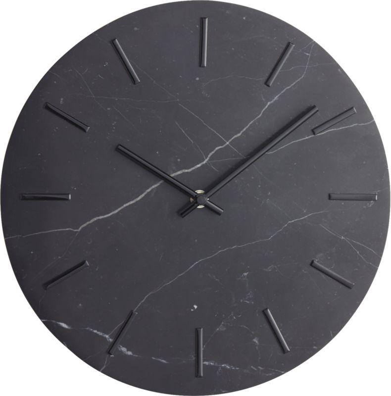 Carlo Black Marble Wall Clock
