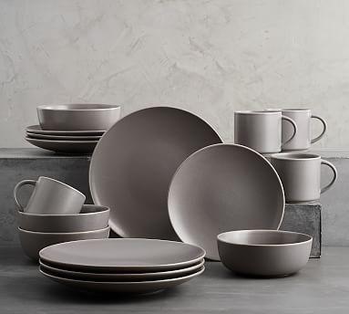 Mason 16 Piece Dinnerware Set - Graphite Gray