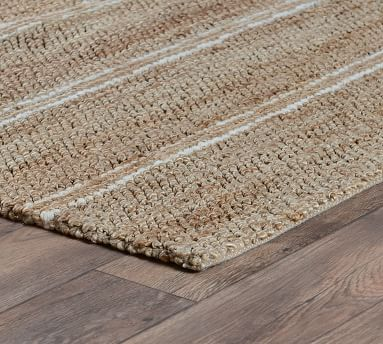 Nan Jute Rug, 9 x 12', Natural/Navy