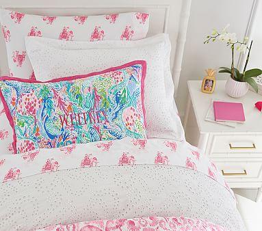 Lilly Pulitzer Bazaar Elephant Sheet Set, Sheet Set, Queen, Pink
