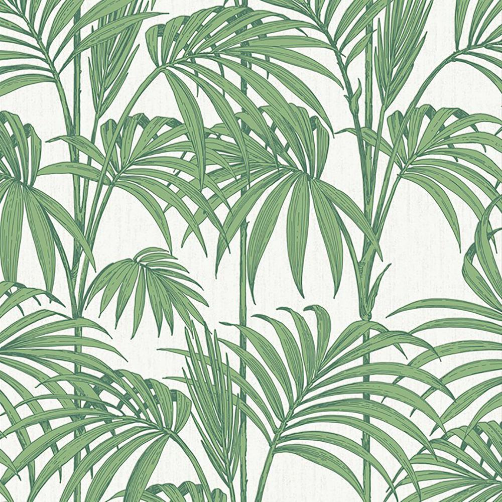 Palm Green Honolulu Removable Wallpaper