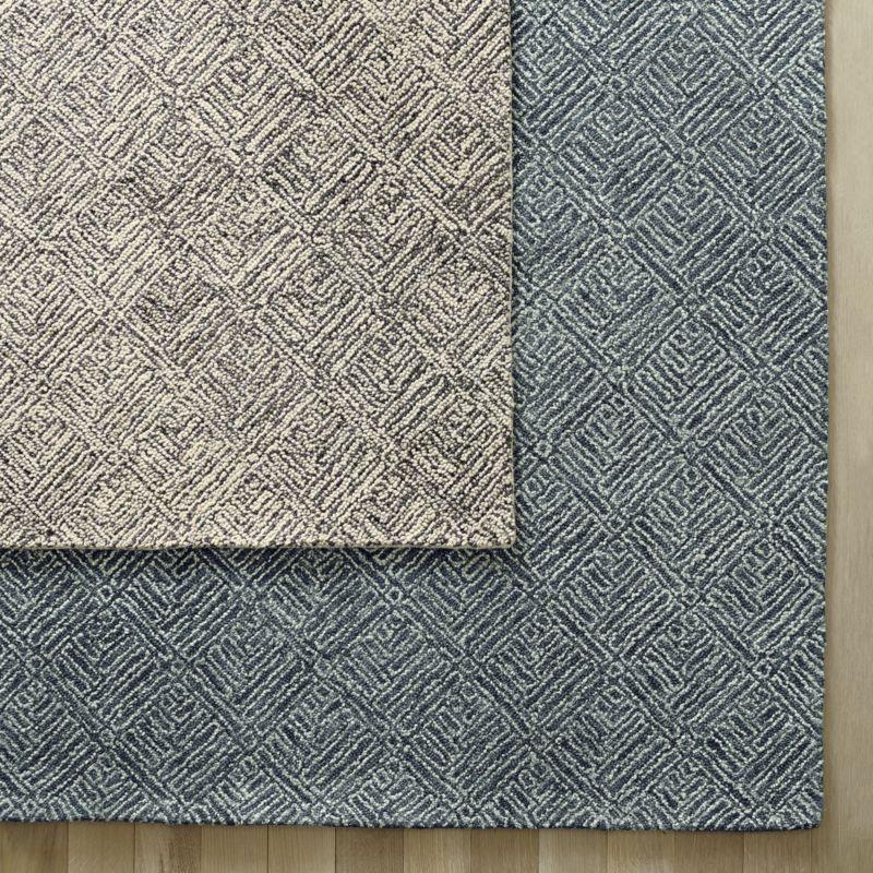 Curtis Flint Grey Geometric Rug 9'x12'