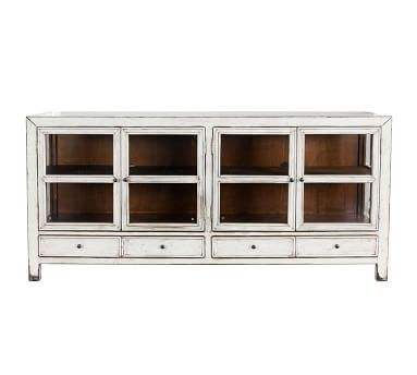 Lakewood Glass Media Console, Antique White